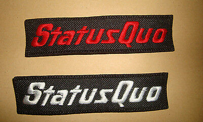 STATUS QUO - LOGO Embroidered PATCH