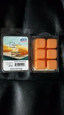 Mainstays Scented Wax Cube Melts Candle 6 Cubes Pack Oil Burner DREAMSICLE