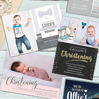 Personalised Photo Boy / Girl Christening / Baptism / Naming day invitation