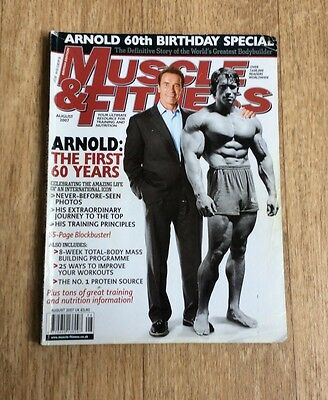 MUSCLE & FITNESS AUG 2007 ARNOLD SCHWARZENEGGER 60th Birthday Special