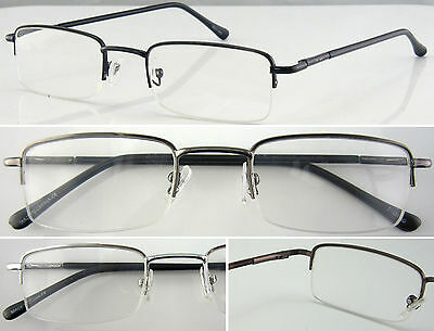 L250 Metal Half Rim Reading Glasses/Spring Hinges/Classic Designed/Elegant Look