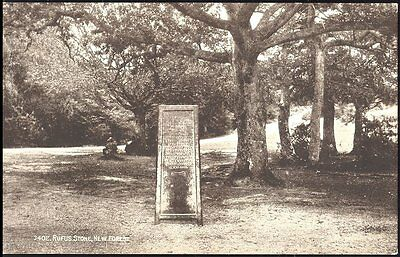 Postcard Rufus Stone New Forest no 3402 Series Salmon