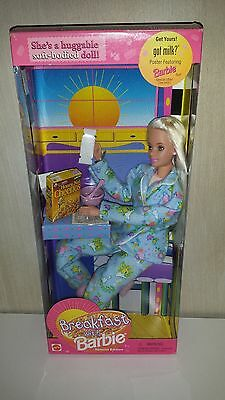 New Mattel Barbie huggable soft bodied Doll Breakfast with Barbie NRFB