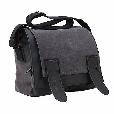 Waterproof DSLR SLR Camera Bag Canvas Shoulder Messenger Vingate Sony Nikon