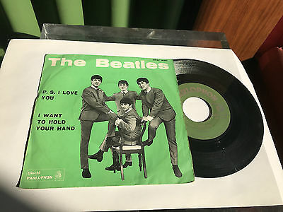 """The beatles """"P.S. I Love You"""" Italy  QMSP 16351 Parlophon 1964"""
