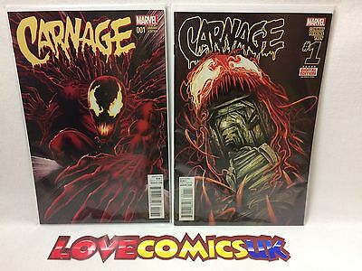 Carnage #1 Mike Perkins Variant and 1st Print Marvel Comics