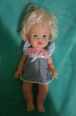 "1999 Mattel Betsy Wetsy Vintage doll bleach blonde blue eyed doll 13"" (110)"