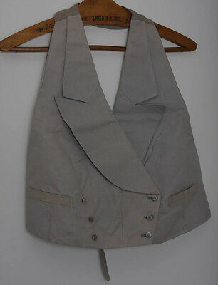 Antique Mens Grey Double Breasted Marcella Waistcoat Original Buttons (3928)