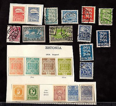 Stamps ~ ESTONIA Used and Unused ~ Mixed Unsorted