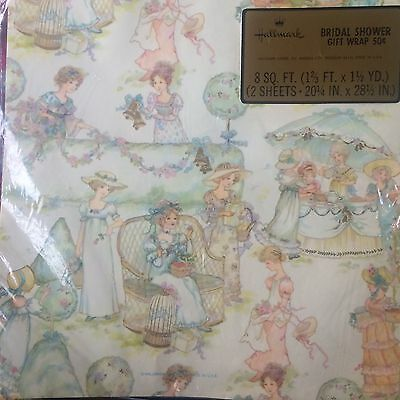 Vintage HALLMARK MID-CENT Wrapping Paper VICTORIAN. BRIDAL