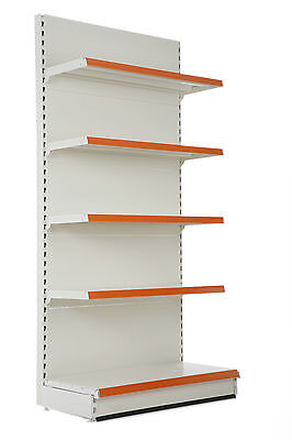 Retail and Shop Shelving, 1.8m Wall Bay, 300mm base shelf with 4 x 250mm shelves