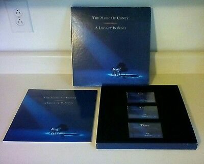 1992 The Music Of Disney A Legacy In Song 3 Cassette Tape Set/disneyland