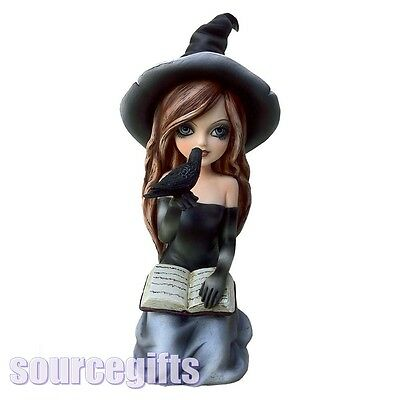 New * Regan *  Witch Statue Figurne Ornament From Nemesis Now With Free Post