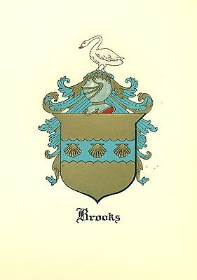*Great Coat of Arms Brooks (#2) Family Crest genealogy, would look great framed!