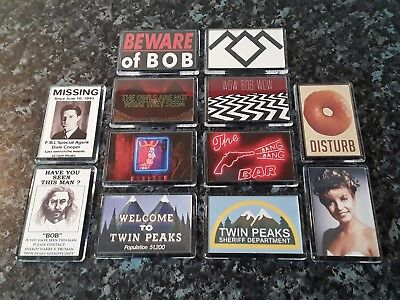 Twin Peaks Bumper Fridge Magnet Collection. Agent Cooper, Lynch