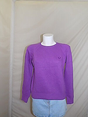 Fred Perry Maglione Donna Woman Sweater Pullover L Casual M4786