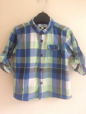 Ted Baker Boys Checked Shirt Age 2-3 - Good Condition
