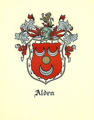 *Great Coat of Arms Alden Family Crest genealogy, would look great framed!