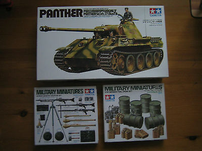 1/35 plastic model military,German panther V tank+accessorys,