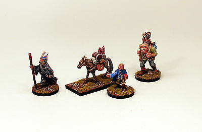 Alternative Armies 28mm Pro-Painted Fantasy FL11-Wizard's Party-4 Miniatures