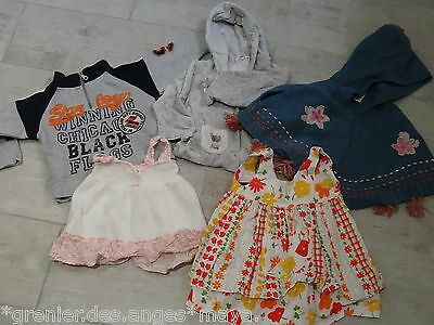 ☀ Lot Vetements Fille Taille 12 Mois 1 An 74 Cms Tbe ☀