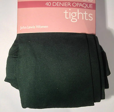 5 pairs of John Lewis super luxury opaque tights, 40 denier, green, X large