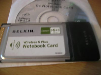 BELKIN Wireless G+ Notebook Card