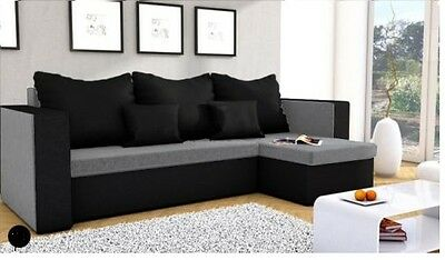 Corner Sofa Bed Mojito GREY and BLACK only 3 cushions included