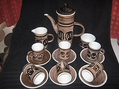 Cinque Ports Pottery Rye Sussex Circles Pattern  Coffee Set Earthenware