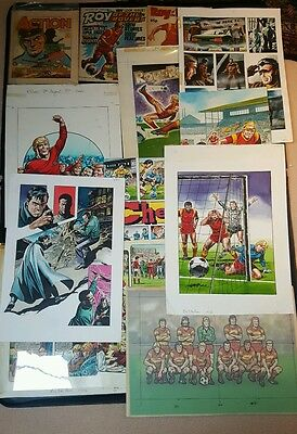 Original Roy of the rovers and action comic artwork. By Mike White.