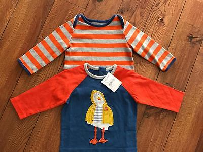 2 Baby Boden Size 3-6mth Long Sleeve Tees Stripe EC & New Graphic Duck $44.50