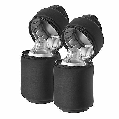 Tommee Tippee Closer to Nature Insulated Travel Bottle Carriers Warmer Bags x2 ,