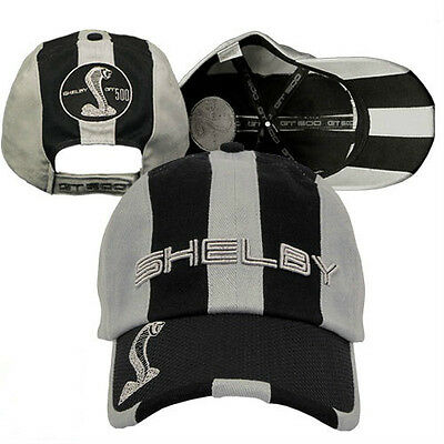 New Black & Gray Ford Shelby Cobra Gt Gt500 Mustang Hat/cap!