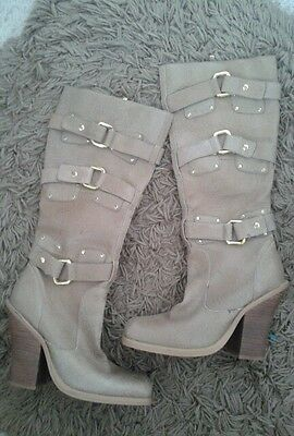 Womens knee high leather boots size size us 9b