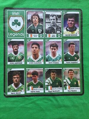 Republic Of Ireland Football Legends  T-Shirt Ideal For St Patrick's Day. Size M