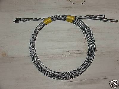 Pair of Garage Torsion Spring 1/8 Cables 8' OHD Overhead Door Repair Barn Shed