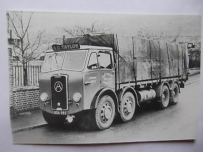 Postcard Of Atkinson Lorry - A.g.taylor - Worcester