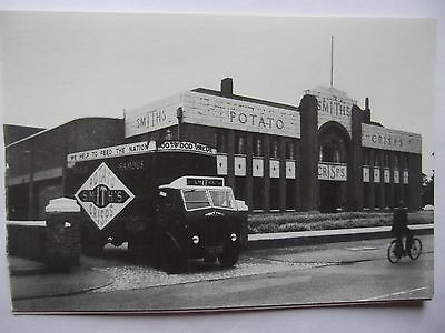 Postcard Of Albion Lorry Exiting Smiths Crisps Factory