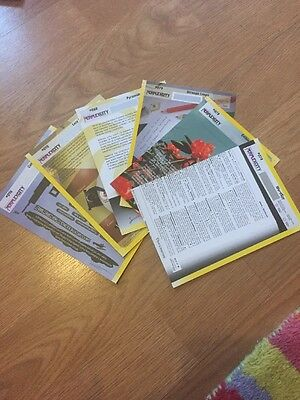 6 Yellow perplex city cards - Unscratched