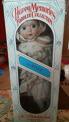 Collectable Porcelain Doll. Heritage Mint. Toddler Collection. Nicole. Boxed.