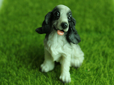 Cocker Spaniel Dog Miniature Fairy Figurines Vintage Dog Statue Collectible