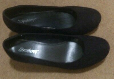 Black, court shoes, heels,office, size 6, wedge,  worn once