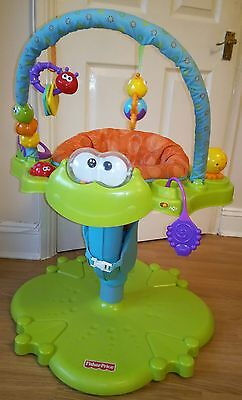 Fisher Price Bounce 'n Spin Froggy Jumperoo activity centre bouncer baby