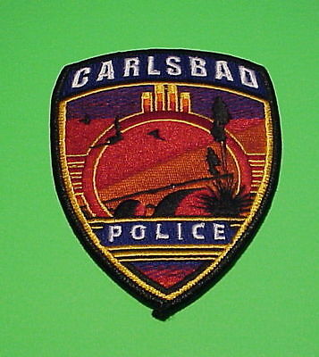 Carlsbad  New Mexico  Nm   Police Patch   Free Shipping!!!