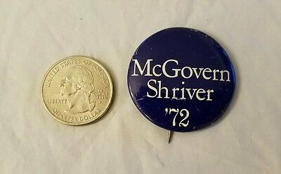 Vintage MCGOVERN/SHRIVER 1972 Presidential Election Pinback