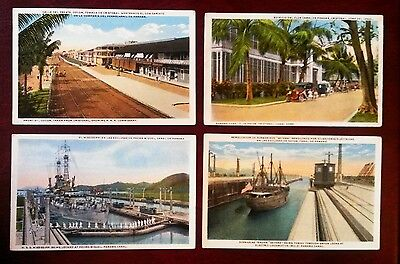 4 x original early postcards of Panama, Canal zone lovely cards