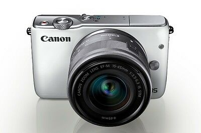 Canon EOS M10 white + EF-M 15-45mm IS STM - Fotocamera Digitale
