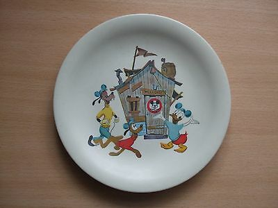 LOVELY 1950's / 1960's VINTAGE MELAWARE DISNEY PLATE / MICKEY MOUSE CLUB PLATE