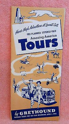 Greyhound Bus Tours Pre Planned American Tours. Brochure, 1950