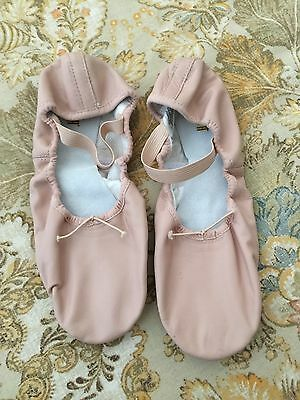 Womens Size 8 B Bloch Leather Split Soles Pink Ballet Shoes Worn Once #89pp